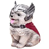 TNOIE Cute Dog Bank Toy, Puppy Piggy Bank with Infinity Gauntlet Fist,Corgi Husky French Fighting Dog Captain America Money Coin Bank Gifts for Girls Boys Kids Teens (Husky)