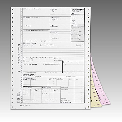 500 x Frachtbrief Endlossatz national LKW/KVO Frachtbriefe selbstdurchschreibend 250739