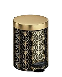 Gold and Black Meliconi Art Deco Pedal Bin