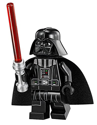Lego Star Wars Minifigur Darth Vader with Tan Head & Red Lightsaber aus 75055 (sw586)