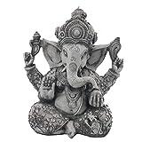 Pevfeciy Estatua de Elefante Escultura Arenisca Buda Ganesha Vignesha Hecha a Mano,A