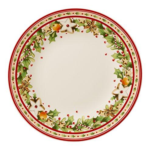 Villeroy & Boch 14-8612-2641 Plato Llano Winter Bakery Delight, para Navidad, 21,5 cm, Porcelana, Multicolor, 22.6x22.6x7.6 cm