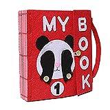Childlike Libros Blandos De Fieltro para Bebé, Montessori Tableros De Aprendizaje, Juguetes Actividad Libro De Tela, 24 X 22 X 5 CM