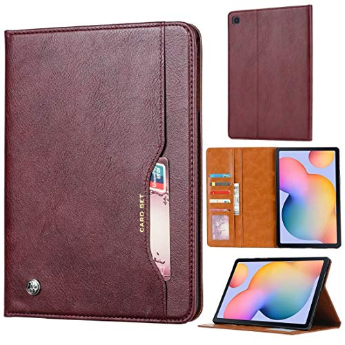 for Samsung Galaxy Tab A7 2020 / T505 Knead Skin Texture Horizontal Flip Leather Case with Photo Frame & Holder &Card Slots & Wallet Non-Slip (Color : Wine Red)