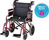 NOVA Bariatric Transport Chair with Locking Hand...