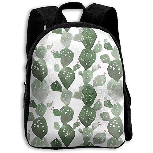 Rucksäcke,Aquarell-Kaktus Mit Blüten-Rucksack, Student Bag School Bag Für Das Reise-Kletternde Laufen