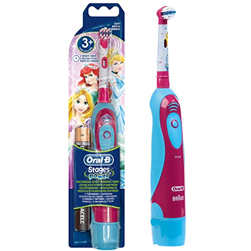 Oral-B Stages Power Batterie Prinzessin elektrische Kinderzahnbürste