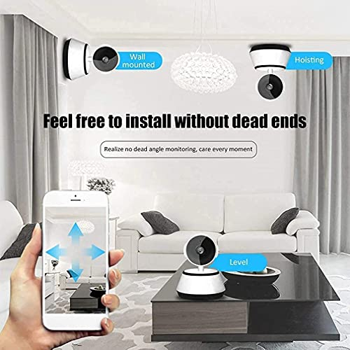 Mini Robot Wireless WiFi Network Security HD Remote Monitor 720P CCTV 360 Degree Rotation Two Way Audio Motion Detection Alarm Night Vision Security Camera (520 P) (Product Power Generation)