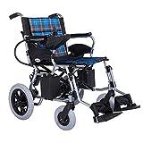 XQY Medizinischer Rehabilitationsstuhl, Rollstuhl, Elektrorollstuhl, 30,5 Kg Faltbarer Und Leichter Elektrorollstuhl, 360 ° Joystick, Gewichtskapazität 100 Kg, Sitzbreite 44 cm -