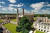 N\A Puzzle Jigsaw Rompecabezas De Bricolaje England Houses Cambridge University of Cambridge Decoración del Hogar para Niños Adultos 500 Piezas