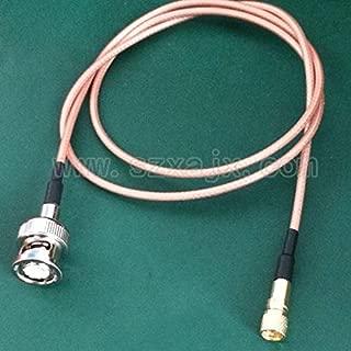 Davitu JX connector Microdot Compatible Connectors male 10-32UNF M5 to BNC male Vibration acceleration sensor test cables 0.5M-10 meter - (Color: 1 meter)