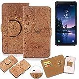 K-S-Trade® Handy Schutz Hülle Für Samsung Galaxy S8 Active Korkhülle 1x