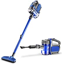 Portable Vacuum Cleaner Household Small Powerful high Power Push Rod Handheld Vacuum Cleaner Car Vacuum Cleaner (Color : Blue)