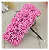 YINGNBH Rosas Artificiales Barato Mini Rosa Flor Artificial Flor de Espuma DIY Bolas de Flor Tocado Decoración de la Boda Flores Nupciales (Color : Rose Red)