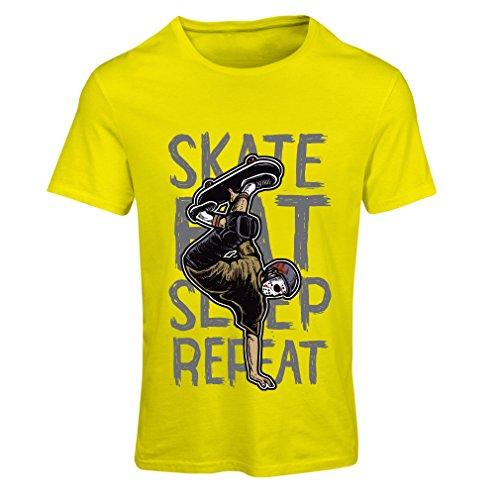 Vrouwen T-shirt Eat-Sleep-Skate-Repeat Fro Skateboard Liefhebbers, Skateboarder geschenken, skateboarden kleding