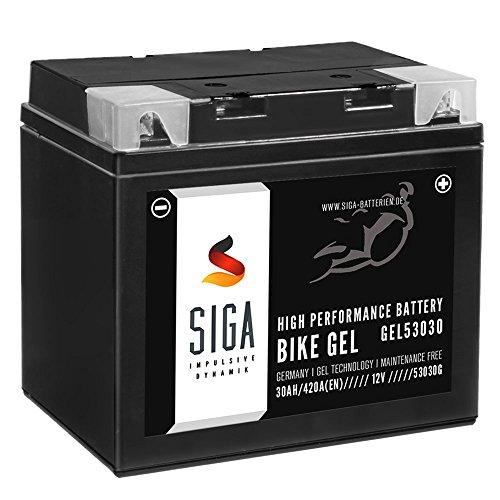SIGA Bike Gel Batterie Y60-N30L-A 30Ah 12V 420A/EN Rasentraktor Aufsitzmäher