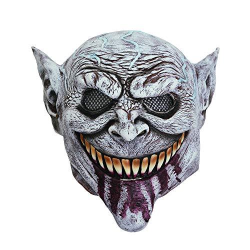 Bristol Novelty BM542 Kobold Maske, Grau, Unisex– Erwachsene, Einheitsgröße
