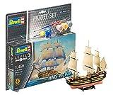Revell Modellbausatz Schiff 1:450 - HMS Victory im Maßstab 1:450, Level 3, originalgetreue Nachbildung mit vielen Details, Segelschiff, Model Set mit Basiszubehör, 65819 -
