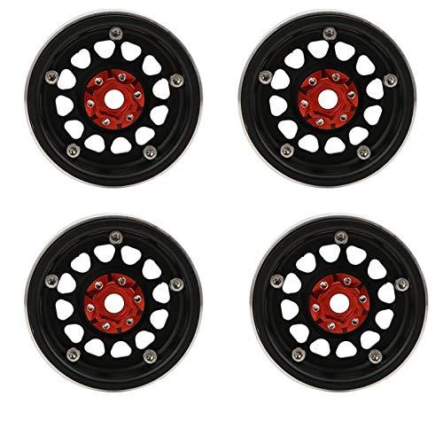 Tomantery Style High-End Mecanizado CNC 2.2 Pulgadas RC Wheel Beadlock RC Car Accesorios para 1:10 RC Car(4 Pieces)