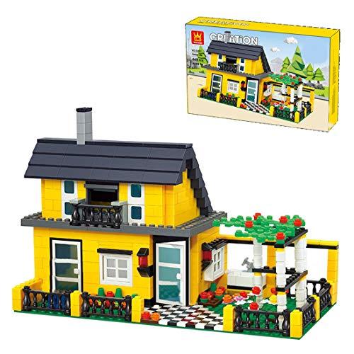 YIGE Street View - Juego de construcción de bloques de construcción, 449 piezas, Villa del desierto, modelo modular, juguete de construcción compatible con Lego