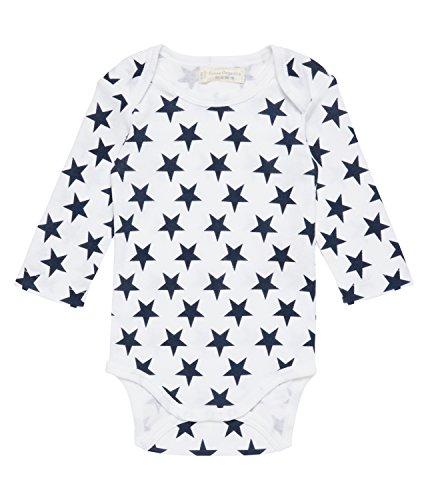 Sense Organics Yvon Langarmbody Body, Multicolore (AOP Navy Big Stars 281021), 56 cm (Taille du Fabricant: 0M) Bébé garçon