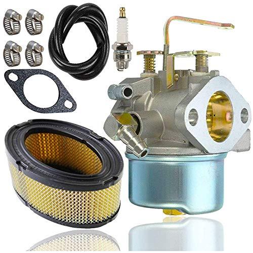 YDong Carburador 640152 (Con Filtro de Aire 33268 + BujíA + LíNea de Combustible) para Tecumseh 640152A 640023 HM90 5000W Generato