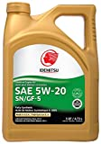 Idemitsu 30010091-95300C020 Full Synthetic 5W-20 Engine Oil (SN/GF-5-5 Quart), 160. Fluid_Ounces