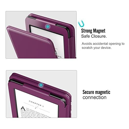 MoKo Kindle Paperwhite E-Reader Funda, Prima Voltear verticalmente Cubierta Smart Cover Case para KAmazon Kindle… 3