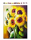 Sosolong Diamond Painting Sunflower,Diamond Art Flower for Living Room Bedroom Wall Hanging Decor (Sunflower)