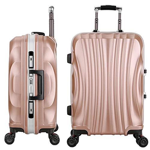 AHJSN Frauen Reisen Gepäck Tasche Trolley Koffer, wasserdichte PC Aluminium Rahmen Box mit Rad 24