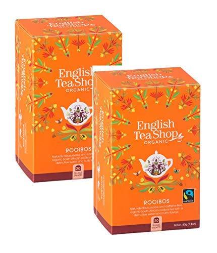English Tea Shop Rooibos Biologico Made in Sri Lanka - 2 x 20 Sachets (80 Gram)