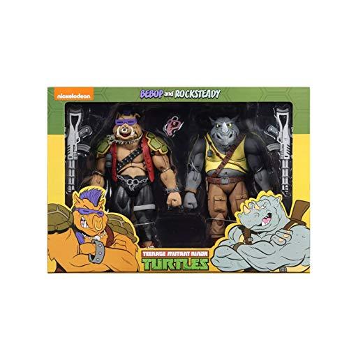 NECA Teenage Mutant Ninja Turtles Bebop and Rocksteady (Classic Cartoon) 7' Action Figure 2 Pack Target Exclusive