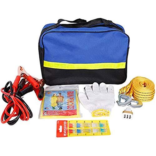 Car Emergency Kit, Multifunktionspannenhilfe Autopanne Tool Kit Für Europa Reise Mit Überbrückungskabel, Abschleppseil, Dreieck