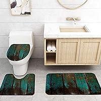 ZGDPBYF 浴室用アップホームバスマットヴィンテージウッドグレインテクスチャプリントバスマットシャワーフロア用カーペットバスタブマット