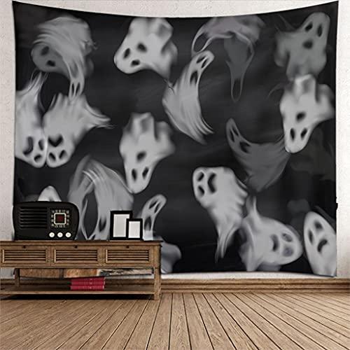 LiNMNM Casa colgante elementos de Halloween tapiz cráneo tapiz dormitorio sala de estar fondo decoración paño tapiz