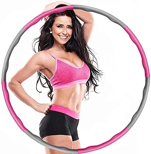 URMI Hula Hoop, Weighted Hula Hoops for Fitness with Free 3M Skipping Ropes...