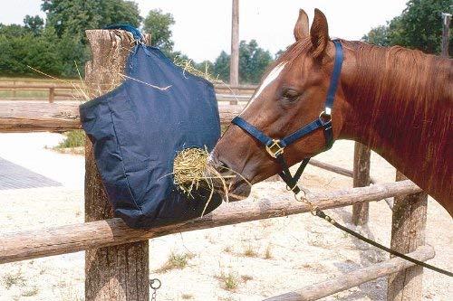 Amesbichler HorseGuard Sac à foin | Sac à foin | Sac à nourriture | Sac pour foin | Sac à foin | Sac à foin | Avec ouverture d'alimentation et anneaux de suspension