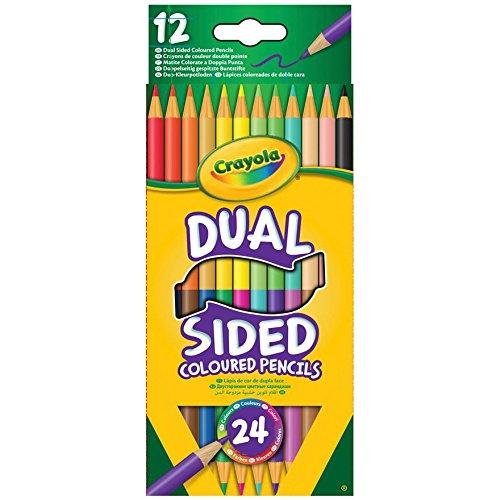 Dispensador de banderitas separadoras estampado solo por una cara fibra de madera de diseño de lápices de Crayola 12