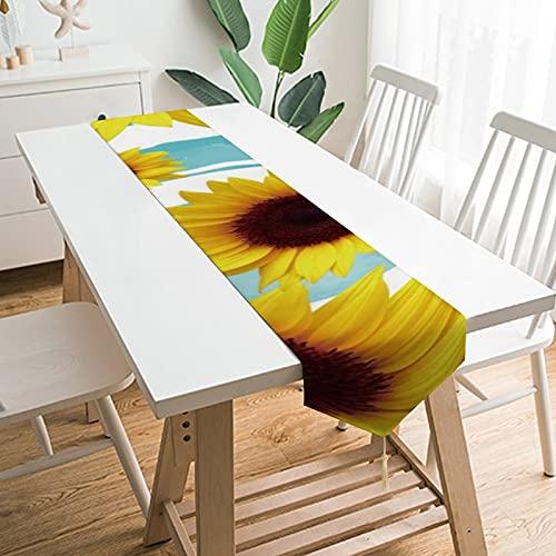 """by Unbranded Camino de mesa de 200,7 x 33 cm, decoración de mesa para el hogar, con texto en inglés """"You Are My Sunflower"""", decoración de mesa para boda, cocina, comedor, fiesta festiva"""