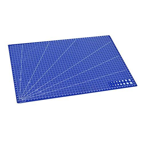 1 alfombrilla de corte A3 de PVC rectangular líneas de cuadrícula de corte herramienta de plástico para manualidades, herramientas de 45 cm x 30 cm, suministros de oficina para niños, fácil de usar