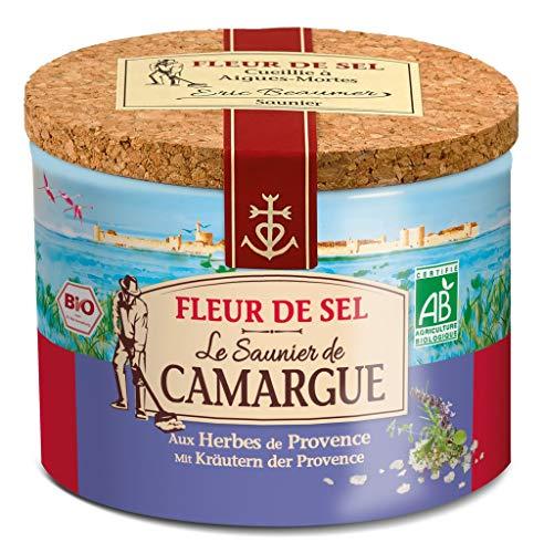 Le Saunier de Camargue - Fleur de Sel Meersalz mit Kräuter der Provence - 125 Gramm