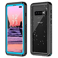 【IP68 Waterproof】Great PC and TPU materials provide a military standard IP68 waterproof quality,360°full body protection also protect your Samsung in the water for 30 minutes at depths of up to 1.5 meters. 【Built-in Screen Protector】With built-in scr...