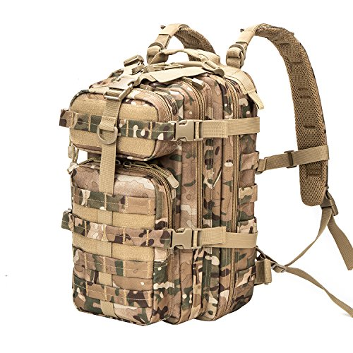 Greencity Small Tactical Backpack Military Assault Pack Rucksack Molle Bag (Multicam)