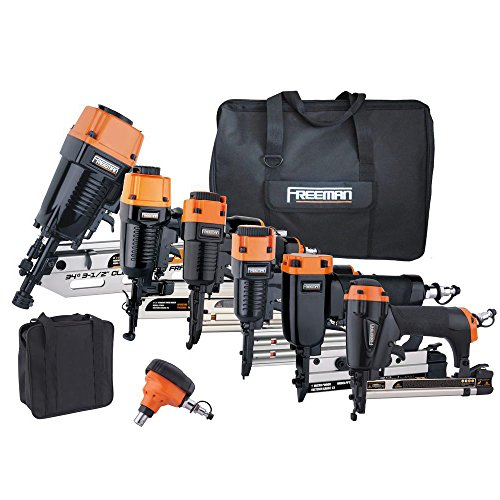 Freeman P9PCK Complete Pneumatic Nail Gun Combo Kit with 21 Degree...
