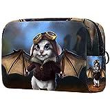 Bolsa de Maquillaje para niños Murciélago ratón Accesorio de Viaje Neceser Pequeño Bolsas de Aseo Suave al Tacto Cosmético Organizadores de Viaje 18.5x7.5x13cm