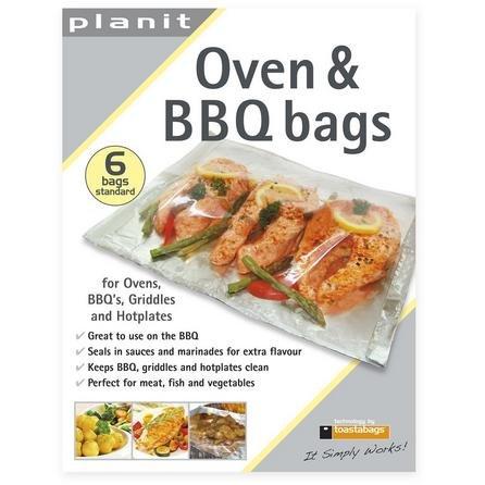 Confezione da 6 sacchetti per forno e barbecue