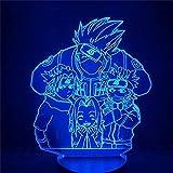 3D LEDナイトライトNARUTO子供カカシ・サスケ桜日本マンガアニメ友情コミックセンサーランプ