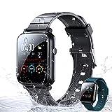 Montre Connectée Femmes Homme WOEOA Smartwatch,Trackers d'Activité Sport Podometre Cardiofrequencemètre Montre Intelligente Etanche IP68 Chronometre Alarme 11 Modes Sport for iPhone Android Telephone