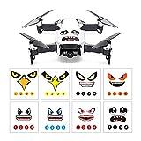 Linghuang Mode DIY Drone Autocollants Frais Shark Face Stickers Peau Drone Accessoires Fournitures pour DJI Mavic Pro et pour Spark Drone ToGames-FR