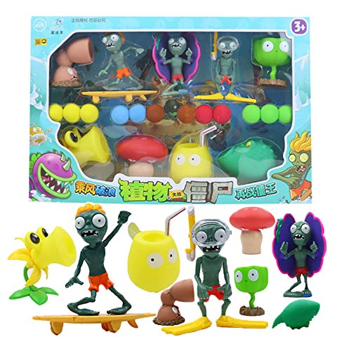 2021 Nuevo juego popular PVZ Plants vs Zombies Peashooter PVC Figura de acción Modelo Juguetes 10CM Plants Vs Zombies Toys